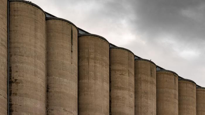 Grain elevators.