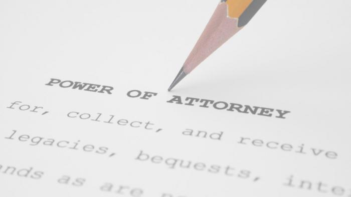 Power of attorney.